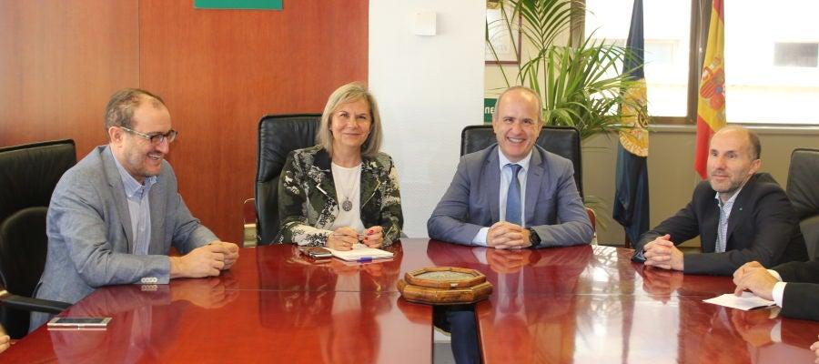 Reunión de Perez Jacome con el Rector de la UNED