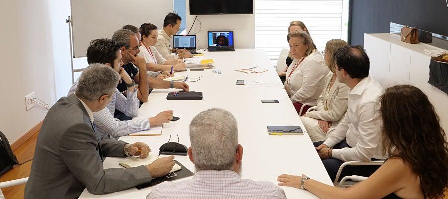 Reunión de los promotores en el Parque Científico de la UMH.