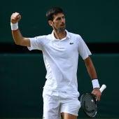 Novak Djokovic celebra un punto