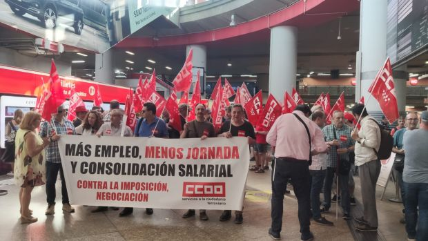La huelga en Renfe se alargará hasta las 23:00 de este lunes