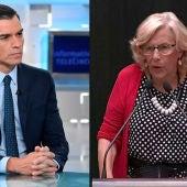 Pedro Sánchez y Manuela Carmena