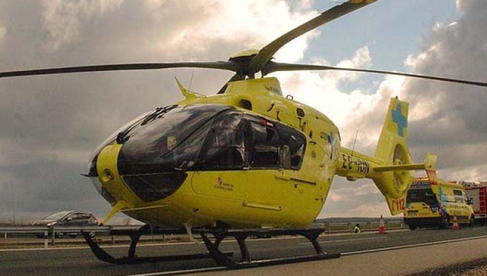 El helicóptero de emergencias de CYL