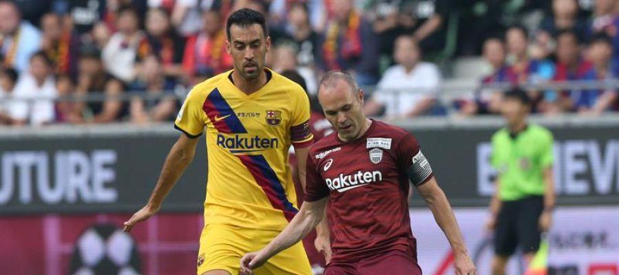Iniesta se reencuentra con el Barcelona