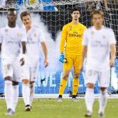 Real Madrid durante la derrota ante el Atlético