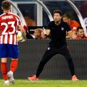 Diego Simeone durante el partido Atlético de Madrid- Real Madrid