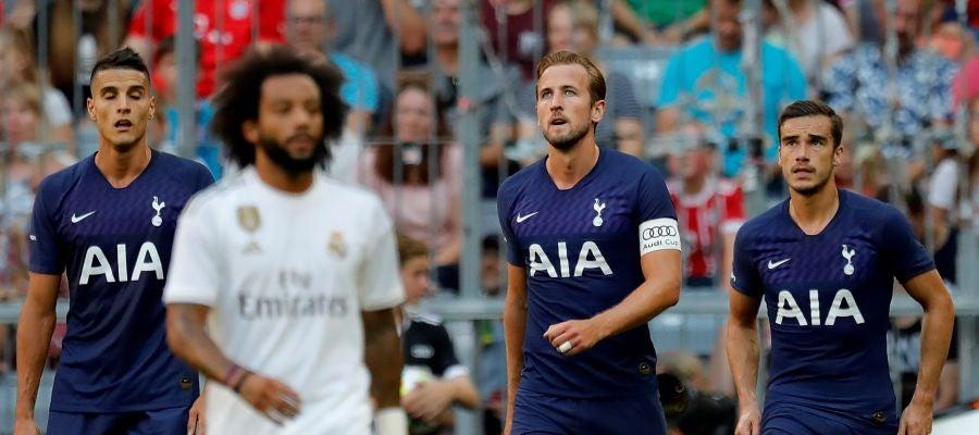 Harry Kane, en el partido del Tottenham
