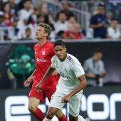 Raphael Varane, en un partido con el Real Madrid