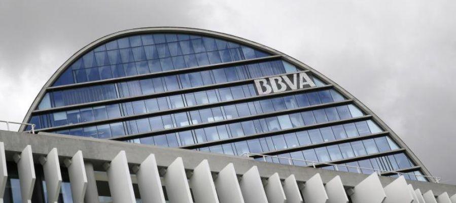 Sede del BBVA en Madrid, conocida como 'La vela'