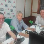 Del Moral, Lillo y el crítico taurino de Onda Cero Ciudad Real, Sito Cantero