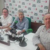 Del Moral, Lillo y Sito Cantero, durante la entrevista en Onda Cero