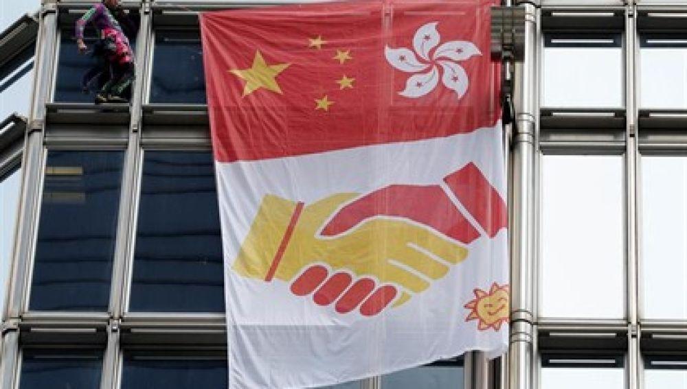 Cheung Kong. Bandera paz