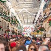 Feria de Málaga en la calle Larios