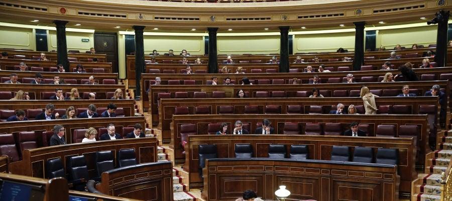 Vista general del Pleno del Congreso de los Diputados.