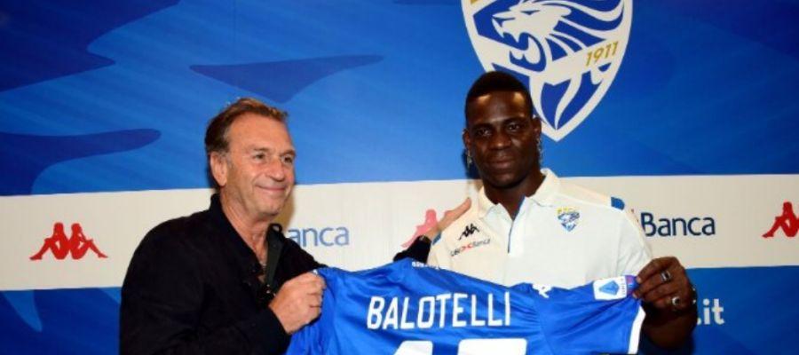Mario Balotelli, nuevo delantero del Brescia.