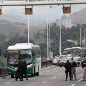 Autobús con rehenes en Río de Janeiro.