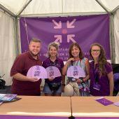 La Concejalía de Igualdad en uno de los 'Puntos Violetas' durante las Fiestas Patronales.