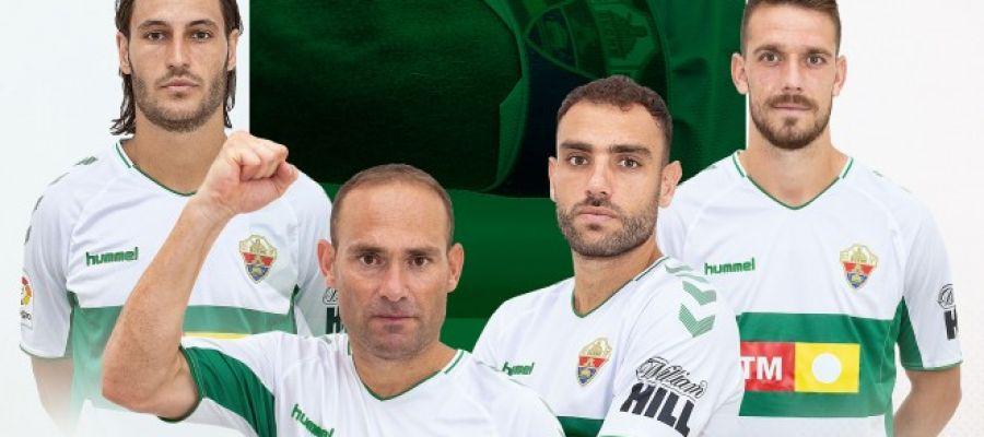Juan Cruz, Nino, Gonzalo Verdú y Manolín, los cuatro capitanes del Elche CF.