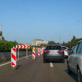 Retenciones en la autovía, a la entrada de Palma.