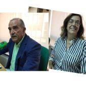 El concejal de urbanismo del ayuntamiento de la ciudad, Luis Fernández y la presidenta de la diputación, Ángeles Armisén
