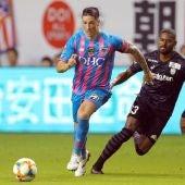 Fernando Torres, en el partido con el Sagan Tosu