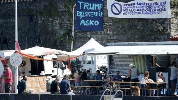 Podemos y Bildu encabezan los actos de protesta contra la cumbre del G7 en Biarritz