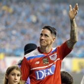Fernando Torres en su despedida