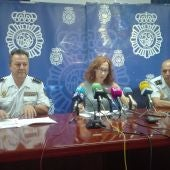 Rueda de prensa en la que se ha informado de la operación policial