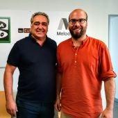 El presidente de la asociación de restaurantes de Mallorca, Alfonso Robledo, junto al periodista de Onda Cero Illes Balears Martí Rodríguez
