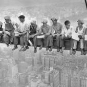 Foto de los obreros de Nueva York