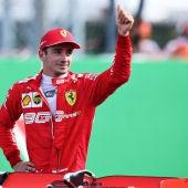 Charles Leclerc en el GP de Monza 2019