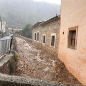 Desbordamiento del torrente de Sa Mosquera, en Caimari