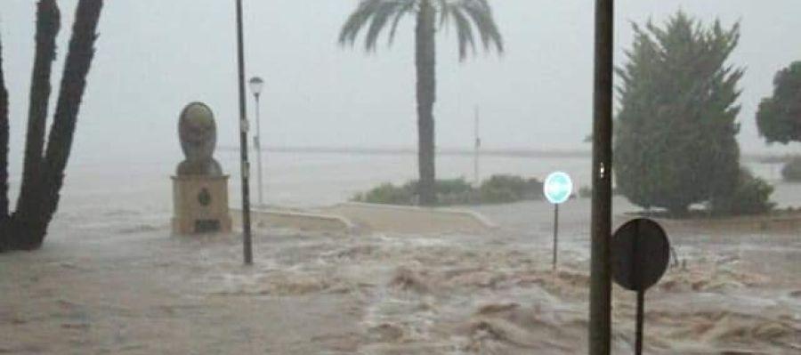 Santa Pola inundada.