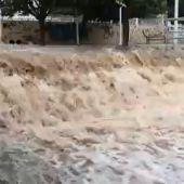 Riada provocada en Santa Pola por la DANA se septiembre de 2019.