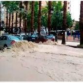 Las calles de Molina de Segura, inundadas