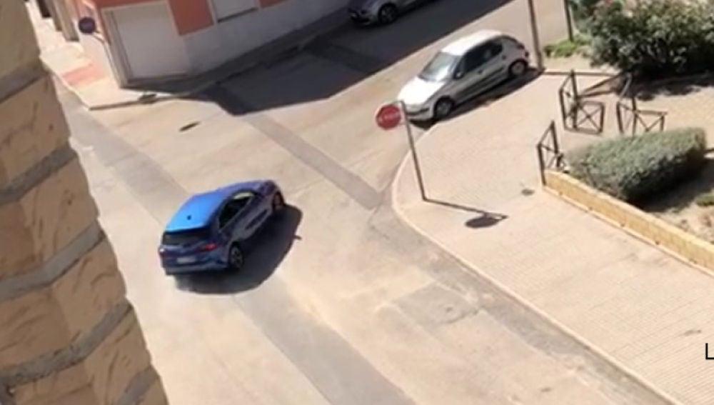 Vehículo que conducía el conductor detenido en Novelda.