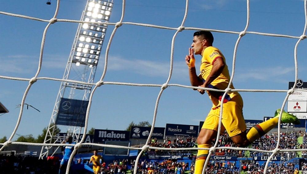 Luis Suárez, tras marcar un gol