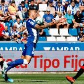 El delantero del Deportivo Alavés Joselu