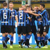 El Inter de Milán de Conte celebra uno de los goles esta temporada.