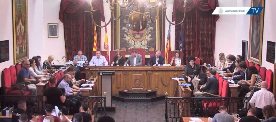 Pleno municipal del Ayuntamiento de Elche de septiembre.