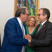 El presidente de la Diputación, José Martí, y el presidente de Ashotur, Carlos Escorihuela.