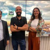 David del Cura con Rita Maestre y Borja Carabante
