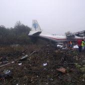 Restos del avión accidentado en Ucrania