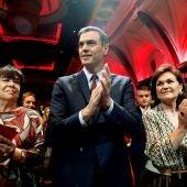 Imagen de Sánchez en un acto del PSOE