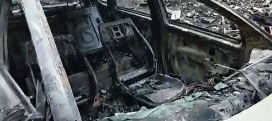 Coches quemados en Barcelona tras las protestas por la sentencia del 'procés'