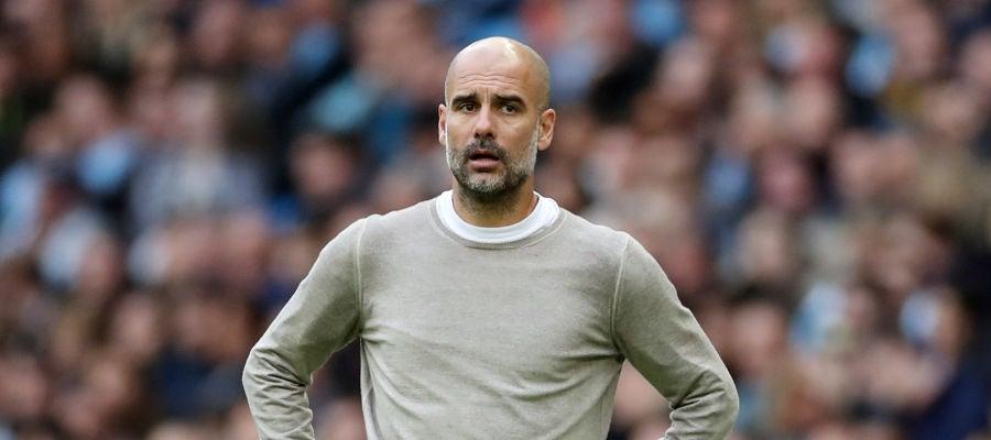 Pep Guardiola, entrenador del Manchester City