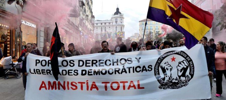 Manifestación en Madrid contra la sentencia del 'procés'