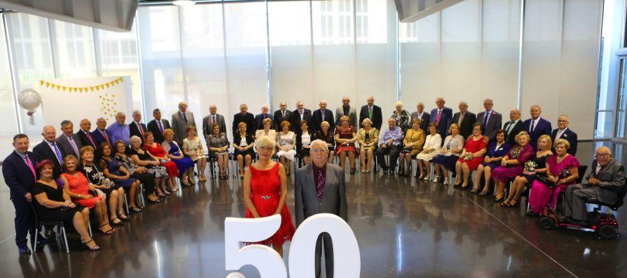 Gala de bodas de oro de 26 parejas de Elche en 2019.