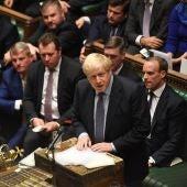 Boris Johnson en el Parlamento británico