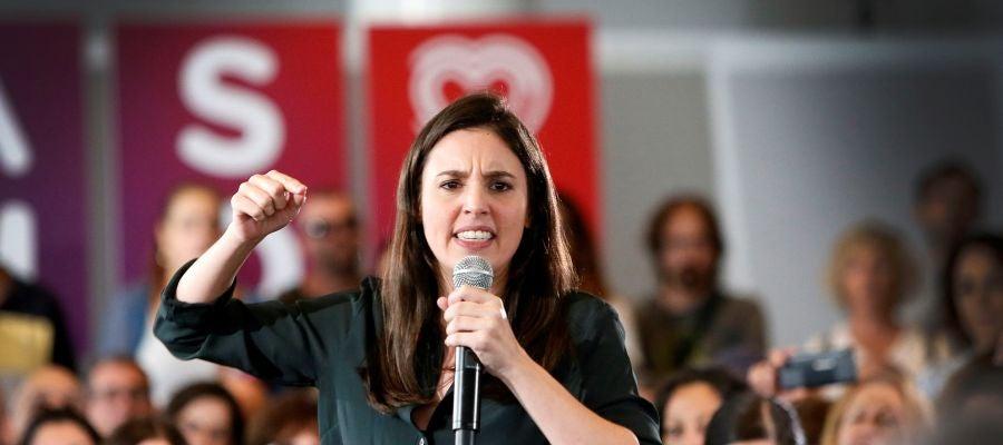 Irene Montero en un acto en Alicante