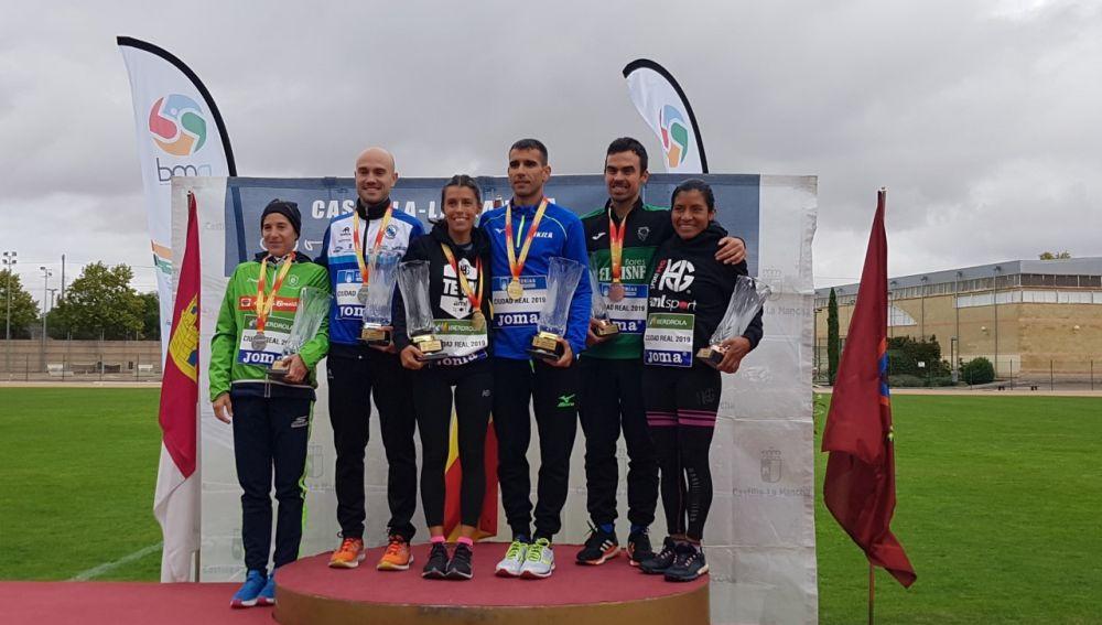 Pódium masculino y femenino del Campeonato de España Absoluto de Maratón